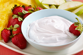 Cool Raspberry Fruit Dip