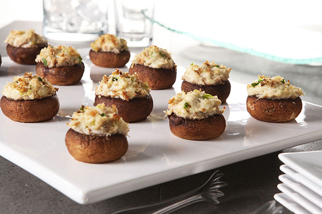 Crabmeat-Stuffed Mushrooms