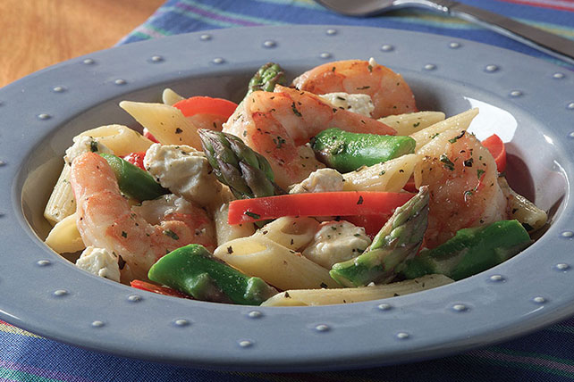 Asparagus and Shrimp with Penne Pasta Image 1