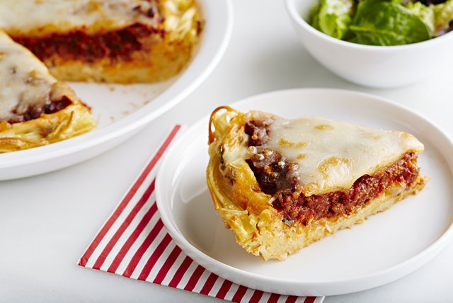 Italian Baked Spaghetti Pie Image 1