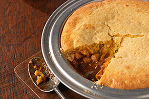 Chicken-Taco Cornbread Pie
