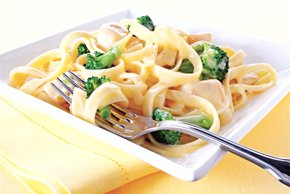 Creamy Chicken Broccoli Fettuccine