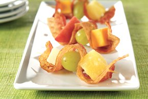 Bacon, Cheese & Fruit Bites
