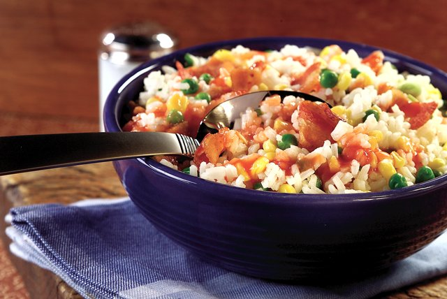 Rustic Bacon-Rice Salad Image 1