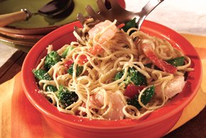Shrimp Linguine Primavera