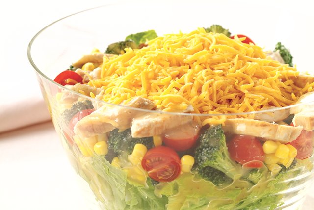 Garden Vegetable Salad with Chicken