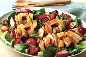 BBQ Chicken and Fruit Salad