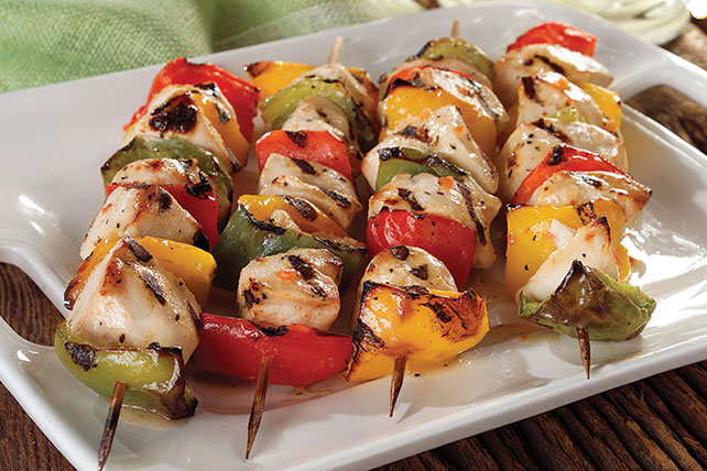 Grilled Rainbow Chicken Kabobs Image 1
