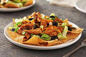 Warm Chicken Taco Salad