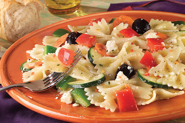 Dressed-Up Pasta and Pepper Salad Image 1
