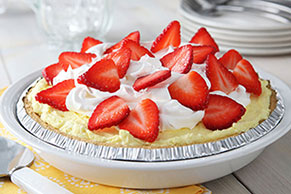 Fluffy Lemon-Strawberry Pie