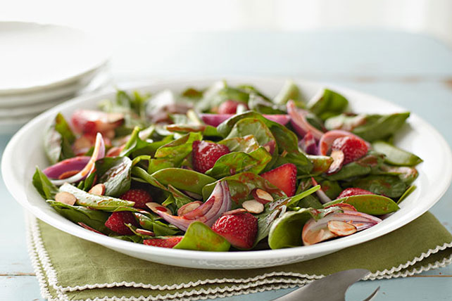 Springtime Spinach Salad with Strawberries