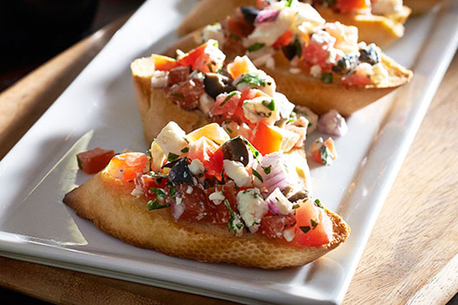 Bruschetta with Basil, Tomato and Feta Image 1