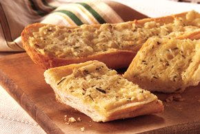 Garlic Bread with Romano & Fresh Rosemary