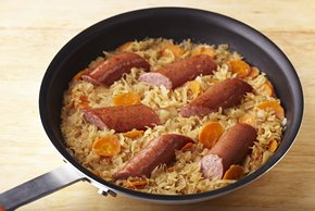 Turkey Kielbasa and New World Kraut