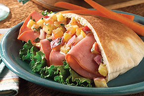 Ham Sandwich with Nectarine Salsa