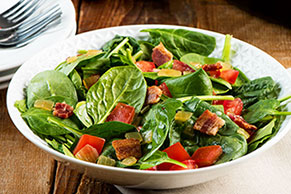 Garden Salad with Warm Bacon Vinaigrette