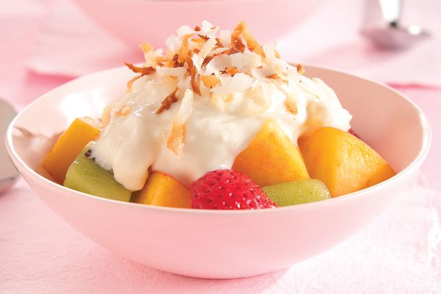 Snow-Capped Rocky Mountain Fruit Dessert Image 1