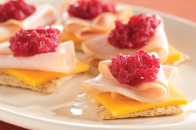 Cranberry-Cheddar Turkey Snacks