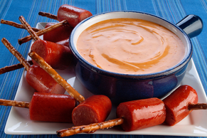 50-Yard Line Hot Dog Fondue