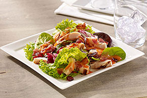 Harvest Bacon and Chicken Dinner Salad with Tangy Fruit Dressing