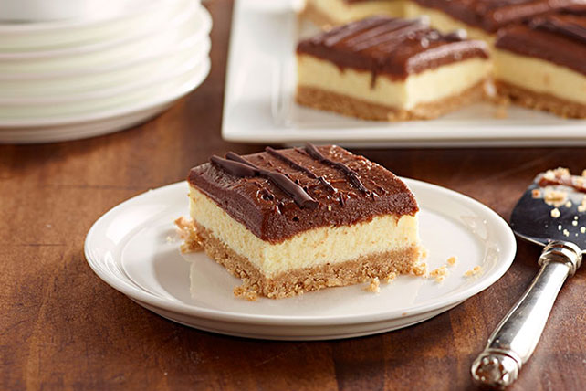 JELL-O No-Bake Chocolate Cheesecake Bars Image 1