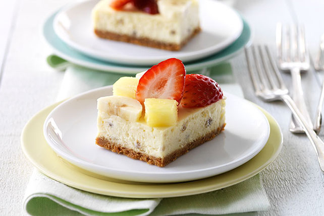 Banana Split-Cheesecake Squares Image 1