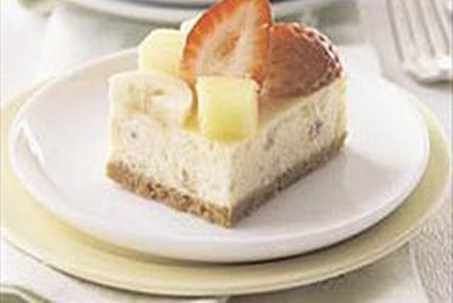 Banana Split Cheesecake Bars Image 1