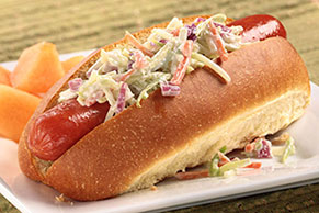 Franks with Broccoli Slaw