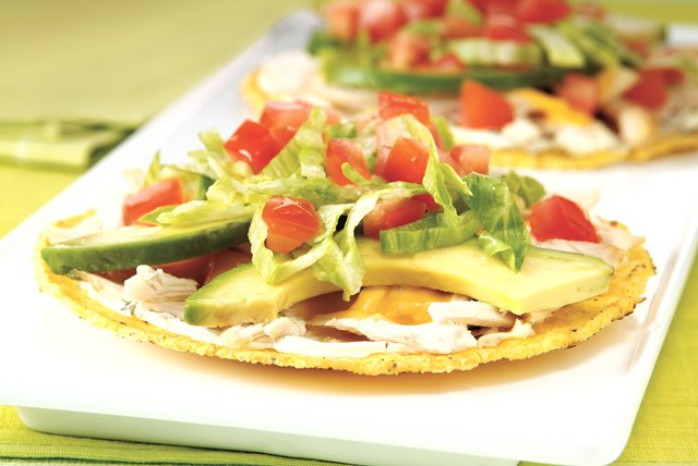 Chicken and Avocado Tostadas