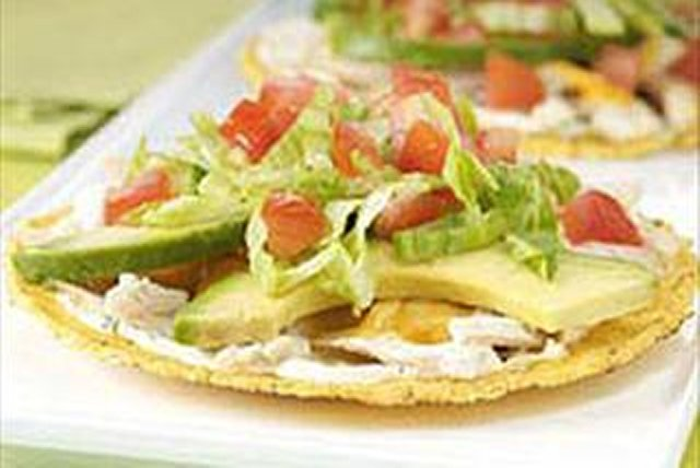 Cheesy Chicken Tostadas Image 1