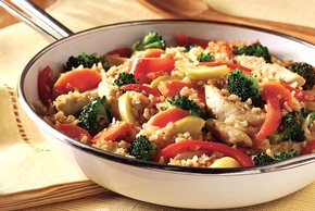 Chicken-Brown Rice Primavera