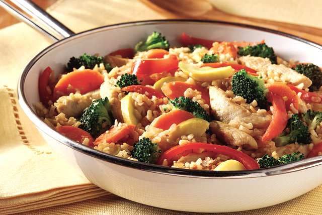 Chicken-Brown Rice Primavera Image 1