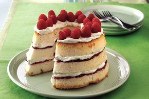 Angel Food-Berry Jam Cake