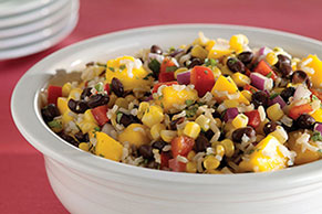 Black Bean and Mango Rice Salad