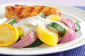 Zucchini with Parmesan Sauce