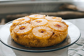 Pineapple Coconut Upside-Down Cake