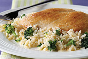 20 Minute Cheesy Chicken & Rice