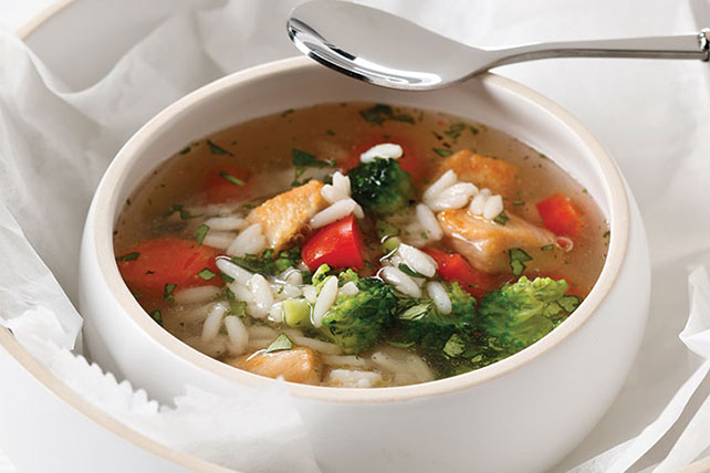 Chunky Chicken Vegetable Soup Image 1