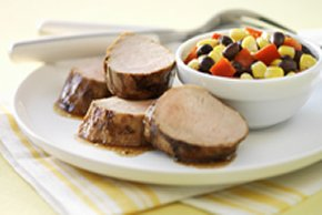 Grilled Pork Tenderloin with Corn-Pepper Relish