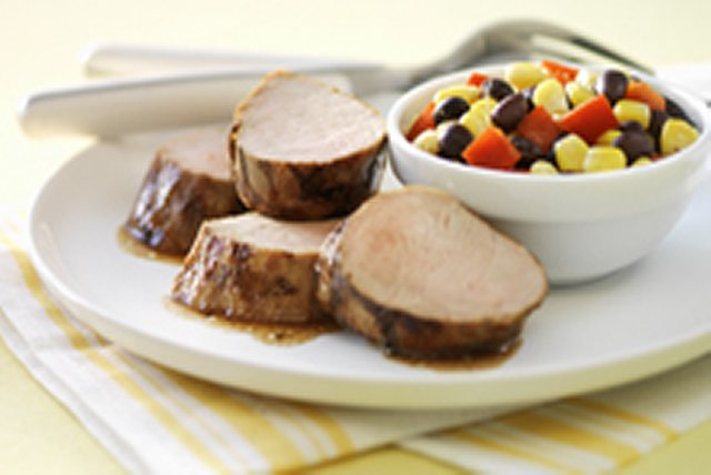 Grilled Pork Tenderloin with Corn-Pepper Relish Image 1
