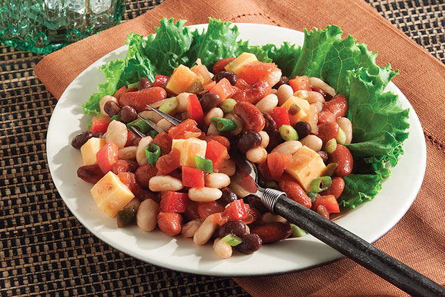 Mexicali Cheddar Bean Salad