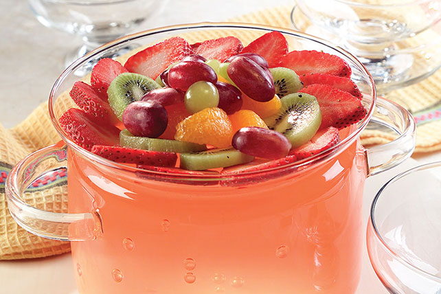 Low Calorie Sparkling Orange Punch Bowl Image 1