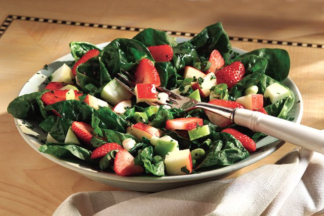 Strawberry-Apple Salsa Salad