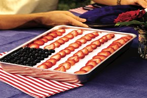 Low-Fat Flag Cake