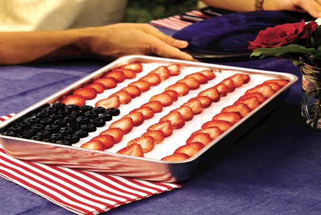 Low-Fat Flag Cake Image 1