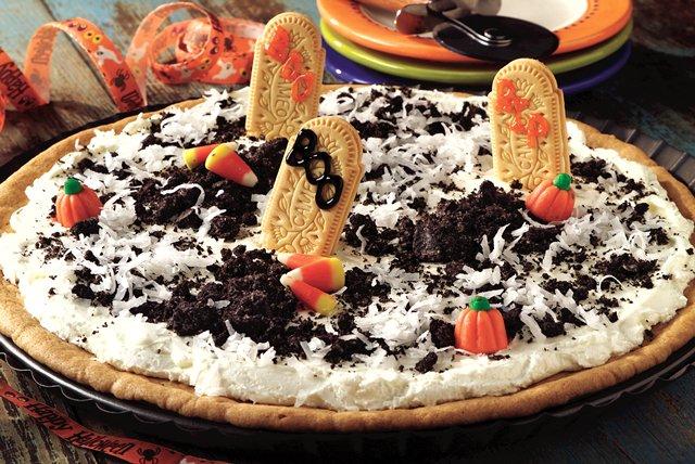 Spooky Graveyard Dessert Pizza Image 1