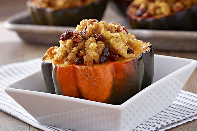 Baked Squash with Pecan Stuffing