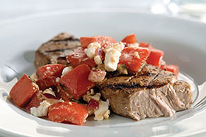 Zesty Grilled Tuna with Fresh Tomato Salsa
