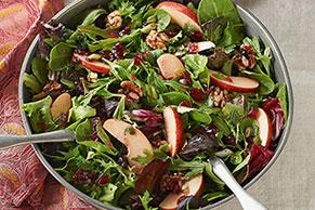 Ensalada de manzana y arándanos rojos